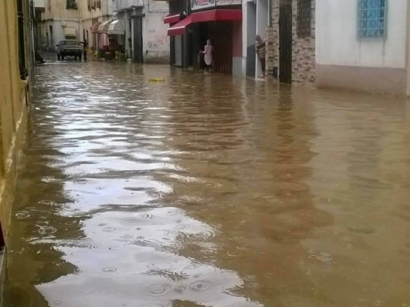 الأمطار والبنية التحتية الرديئة في بنزرت