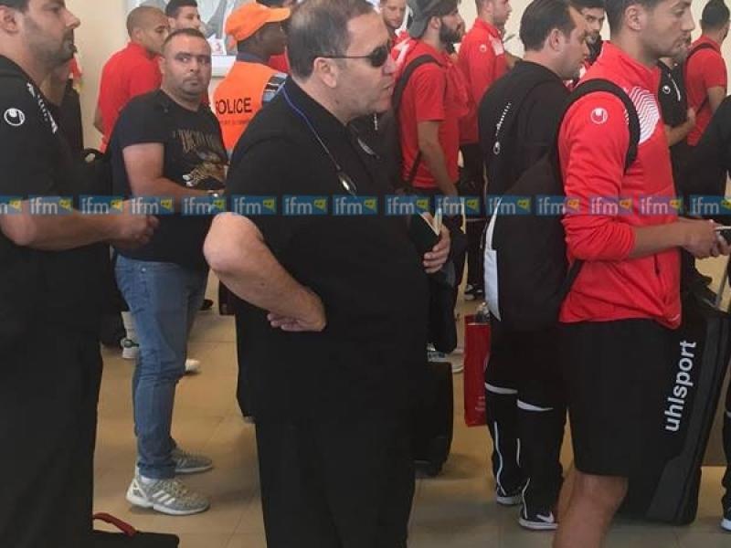 وصول بعثة المنتخب التونسي لكرة القدم إلى غينيا