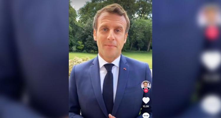 Emmanuel Macron félicite les bacheliers sur TikTok