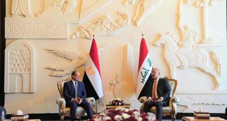 في زيارة تاريخية :  الرئيس المصري عبد الفتاح السيسي يصل الى بغداد