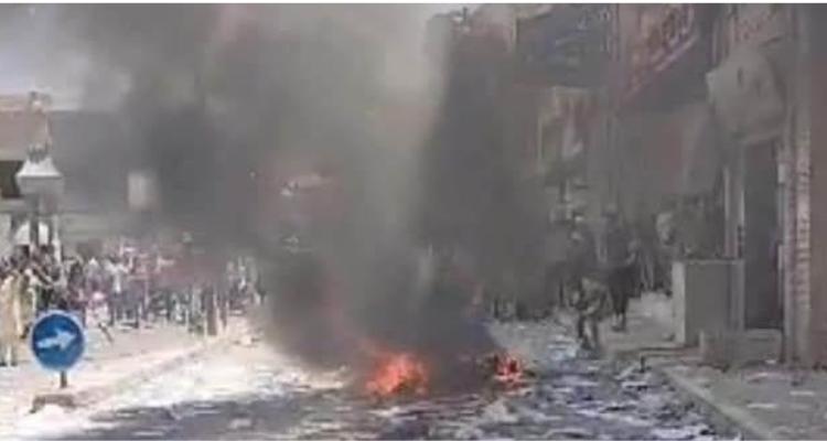 توزر : اقتحام مقر حركة النهضة وحرق بعض التجهيزات