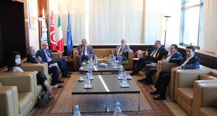 سمير ماجول وسفير ايطاليا بتونس