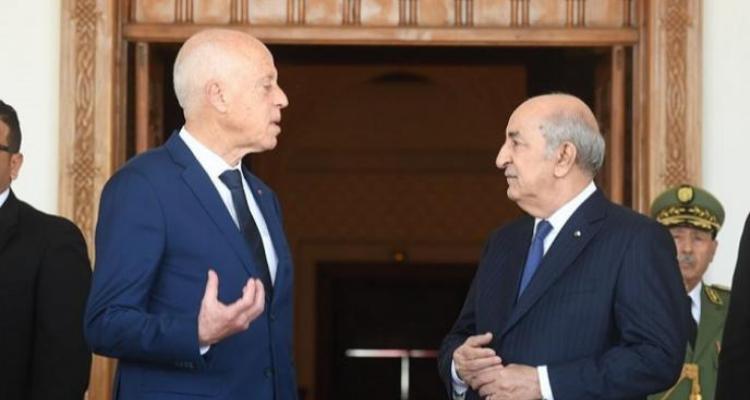 قيس سعيّد يعزّي الرئيس الجزائري عبد المجيد تبّون