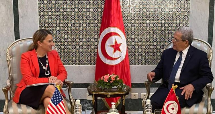 عثمان الجرندي يستقبل  مساعدة وزير الخارجية الأمريكي لشؤون الشرق الأدنى