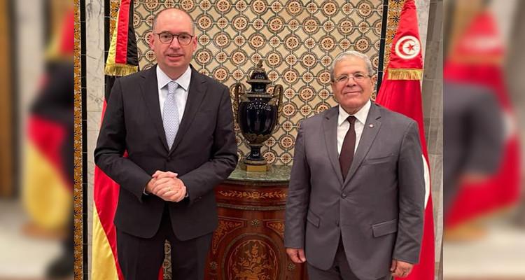 الجرندي  يستقبل  وزير الدّولة الألماني للشؤون الخارجية