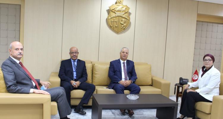 وزيرة العدل تستقبل الرئيس الأول الجديد لمحكمة التعقيب المنصف الكشو