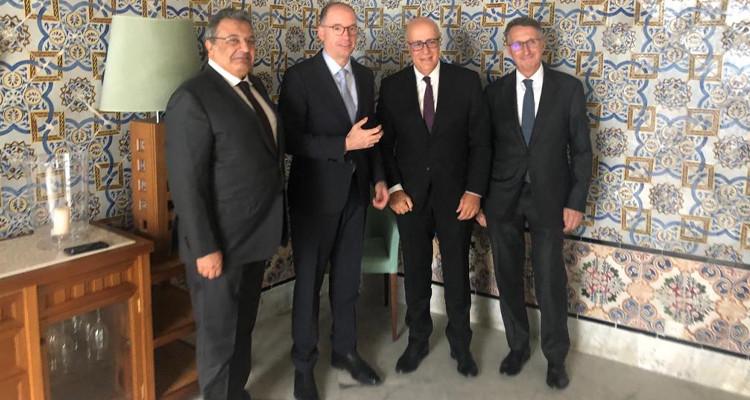 محافظ البنك المركزي يلتقي وزير الدولة للشؤون الخارجية  الألماني