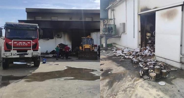 نابل: حريق مصنع الأجبان بمنزل تميم