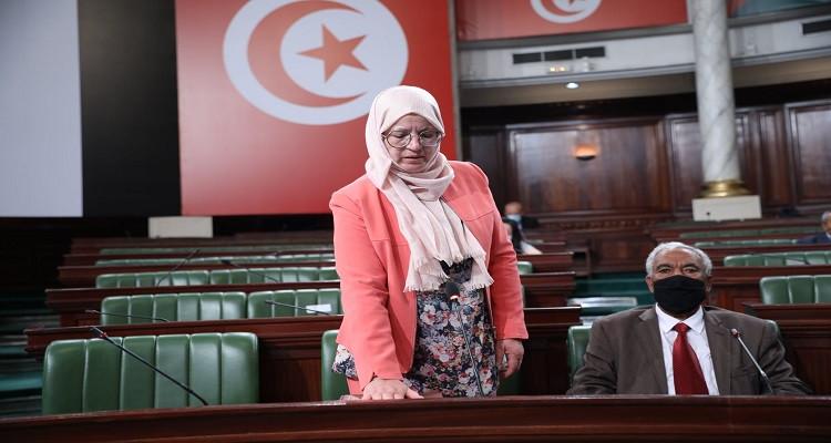 Mongia Boughanmi prête serment à l'Assemblée