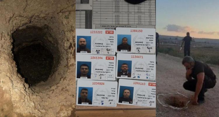Six prisonniers palestiniens s'évadent à travers un tunnel