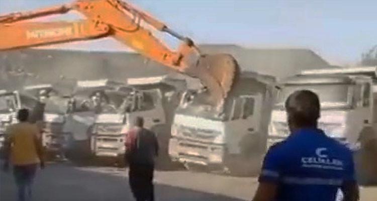 Turquie : Il n'a pas été payé, donc il détruit cinq camions !