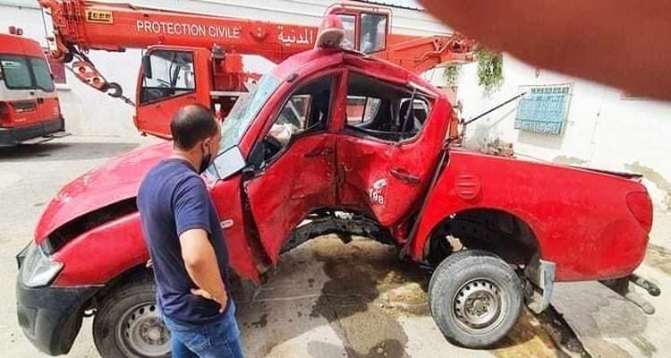 Deux agents de la protection civile victimes d'un accident