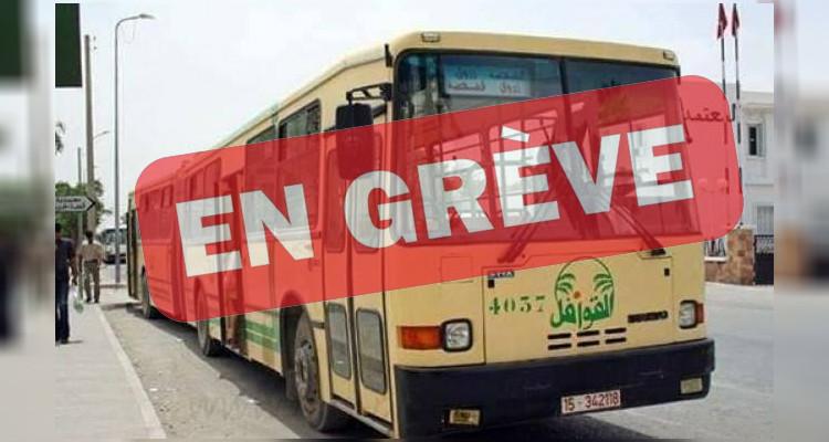 Les agents de la société de transport Kawafel en grève à Sidi Bouzid