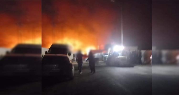 Incendie dans la zone industrielle de Jbel Ouest