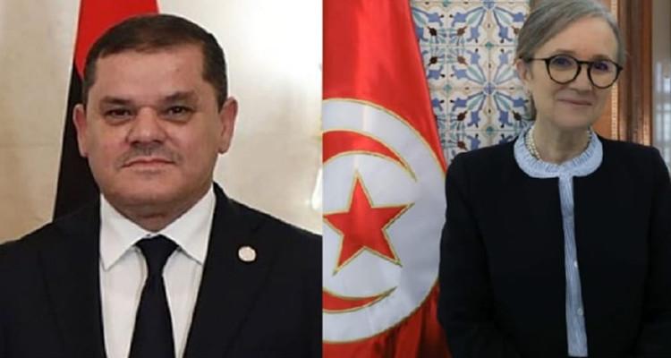 Entretien téléphonique entre Najla Bouden et Abdelhamid Dbaiba