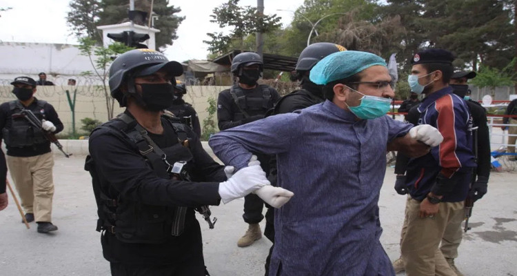 احتجاج الاطباء في باكستان