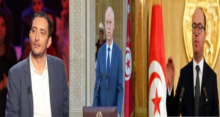 ياسين العياري إلياس الفخفاخ قيس سعيّد