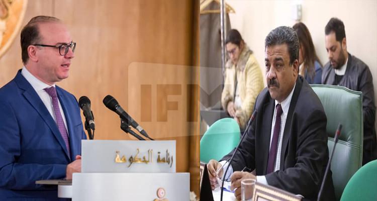 بدر الدين القمودي وإلياس  الفخفاخ