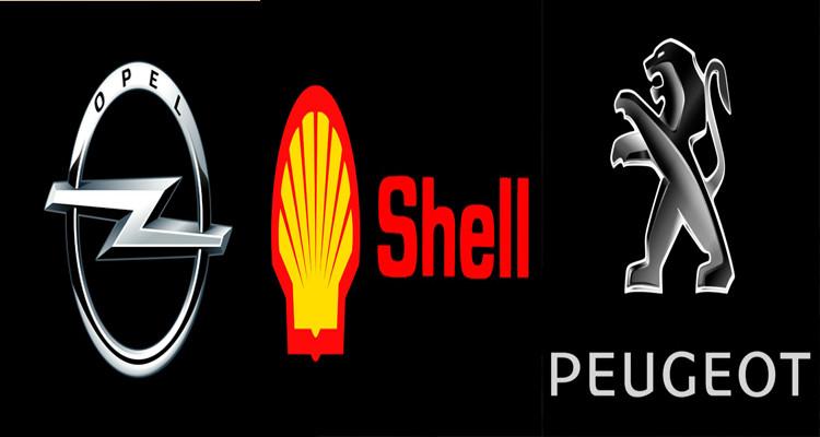opel, eugeot et shell