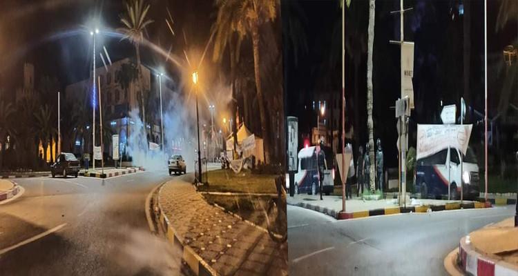 قوات الأمن تفرّق أحباء الاتحاد المنستيري بالغاز المسيل للدموع