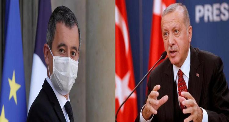 وزسر الداخلية الفرنسي وأردوغان