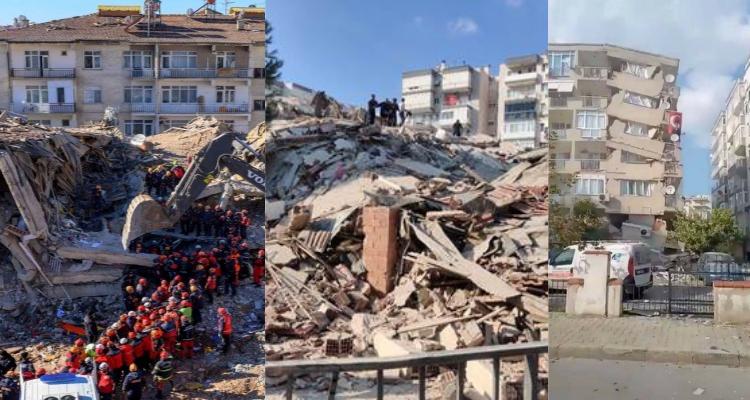 انهيار نحو 20 مبنى جراء زلزال تركيا (صور)