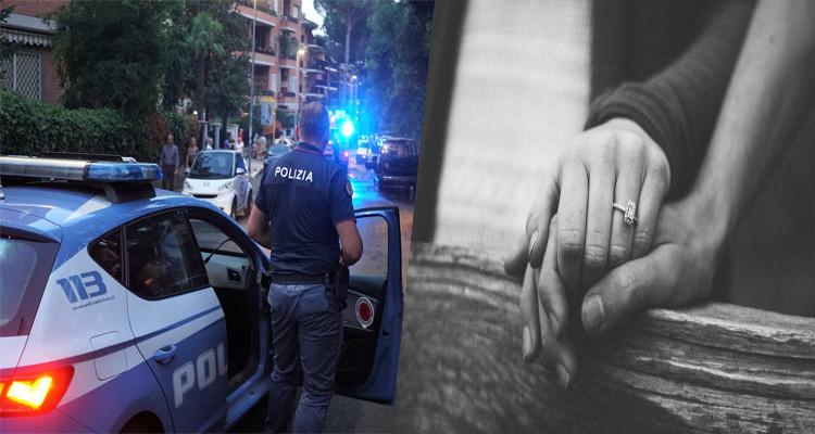 عناق الشرطة الإيطالية