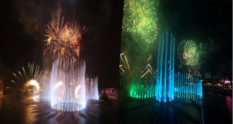 الإمارات تدخل موسوعة غينيس بأكبر نافورة مائية راقصة في العالم