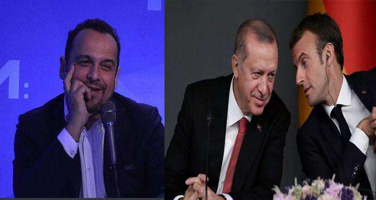 ماكرون وأردوغان ومراد الزغيدي