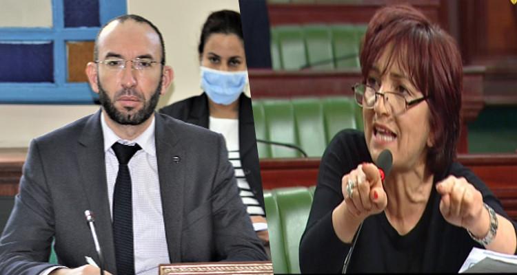 سامية عبو لمحمد العفاس: مبايعة ''داعش'' لا تكون تحت قبة البرلمان