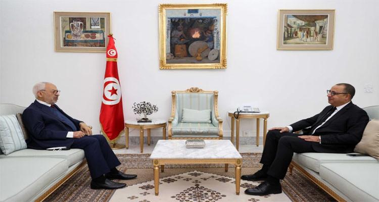 هشام المشيشي وراشد الغنوشي