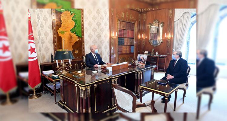 قيس سعيد وزير الشؤون الخارجية عثمان جرندي