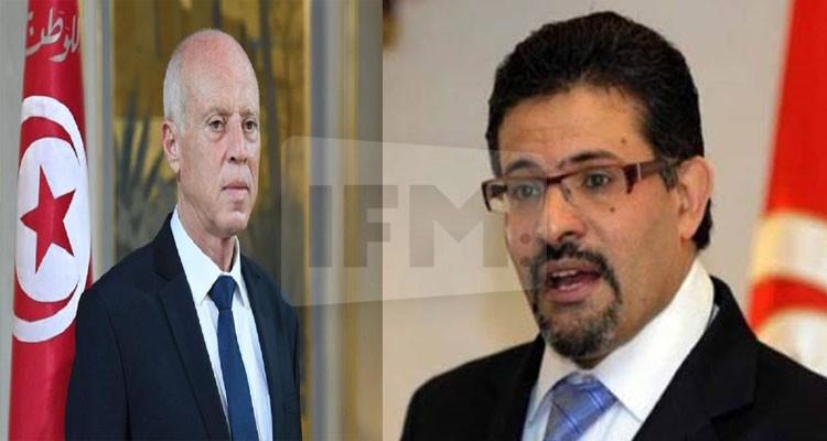 رفيق عبد السلام وقيس سعيد