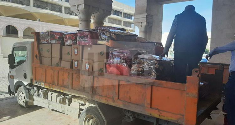 مساعدات عينية توزعها بلدية تونس