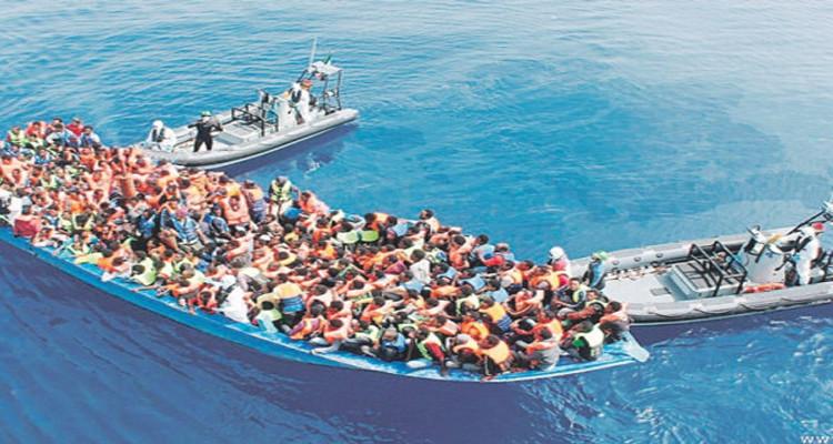 انقاذ مهاجرين غير شرعيين