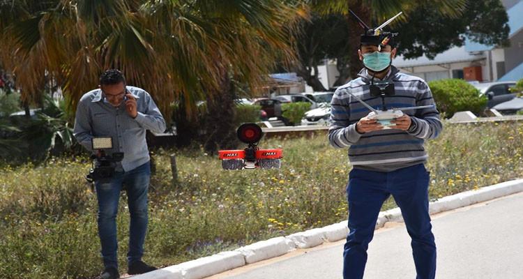 طائرة درون ذكية لقيس الجرارة عن بعد في تونس
