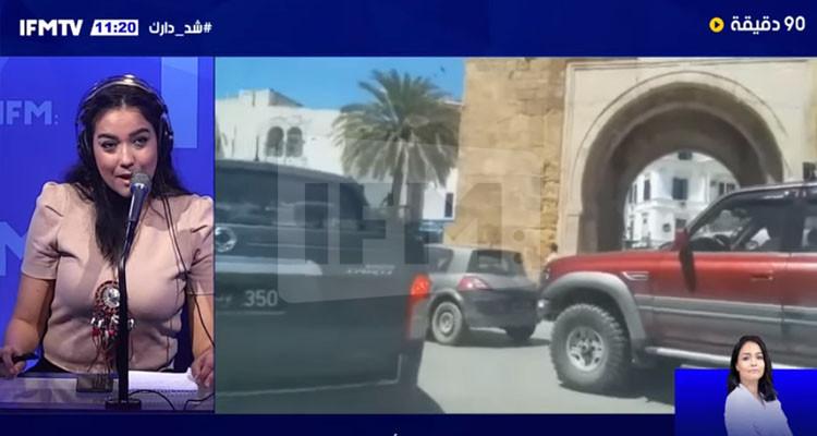 اختناق مروري بمنطقة باب بحر في أول أيام الحجر الموجه (فيديو)