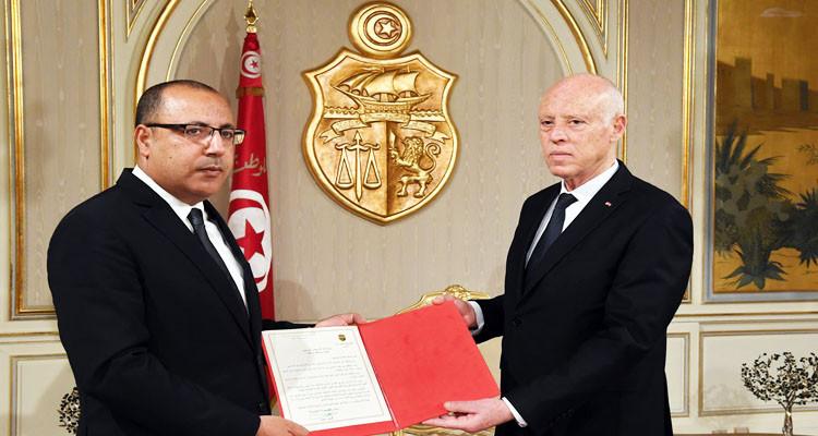 رئيس الجمهورية يسلم هشام المشيشي رسالة تكليف لتشكيل الحكومة