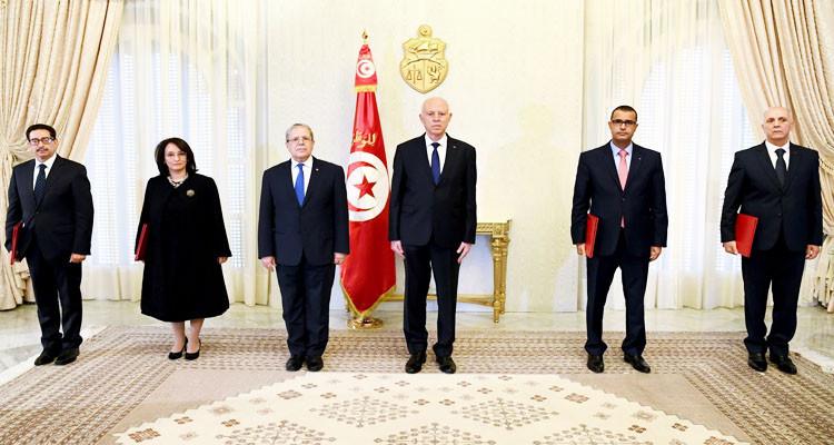 رئيس الجمهورية يسلّم أوراق اعتماد 4 سفراء جدد لتونس