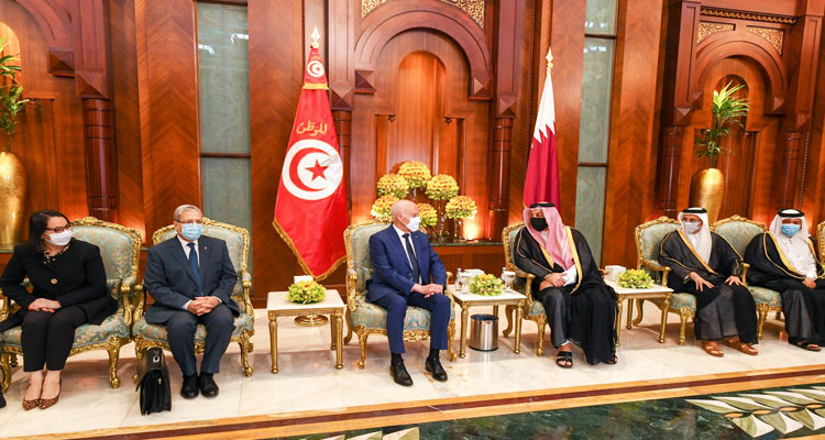 وصول رئيس الجمهورية قيس سعيد إلى قطر في زيارة دولة