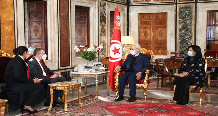 راشد الغنوشي يتحادث مع سفير ألمانيا بتونس