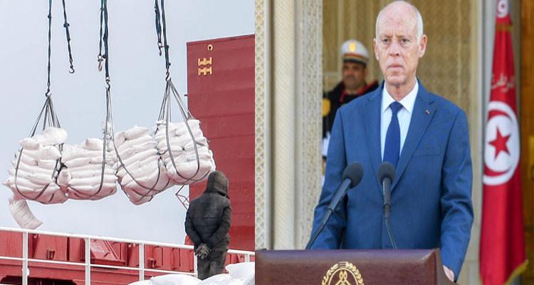 قيس سعيد يكلف وزارة الدفاع بتأمين نقل وتوزيع مادة الأمونيتر الموردة