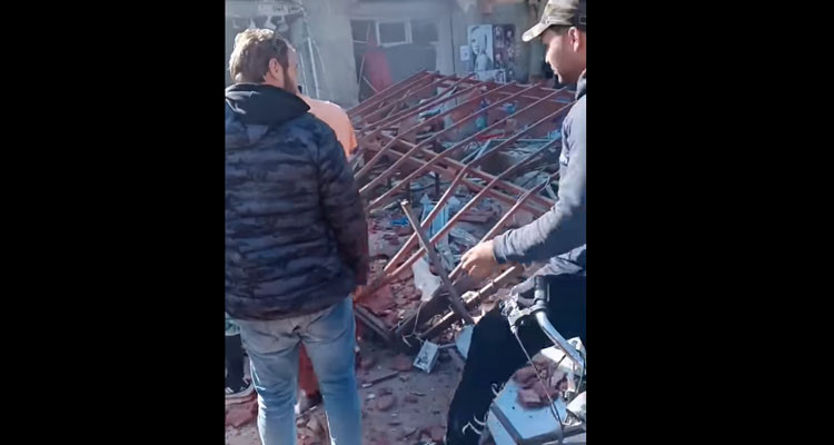 القيروان: انفجار قارورة غاز بمطعم يتسبب في إصابة شخص وتضرر عدد من المحلات