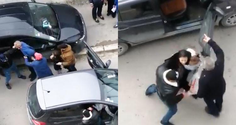 فيديو صادم لأمنيين بأزياء مدنية يوقفون رجلا وامرأة بعنف شديد أمام طفليهما؟