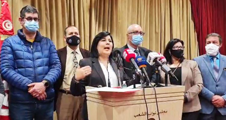 اعتبرت أنه حقق أهدافه: عبير موسي تعلن عن فك اعتصامها بالبرلمان