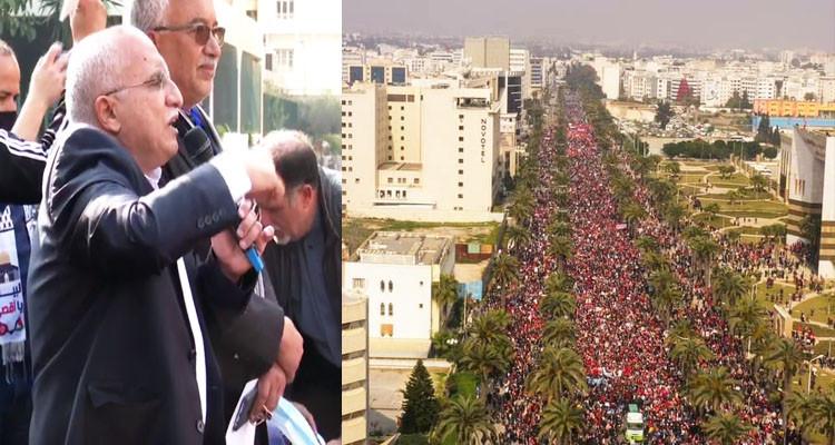 عبد الكريم الهاروني: اللي حضرو اليوم 5 مرات قد اللي حضرو في 14 جانفي 2011