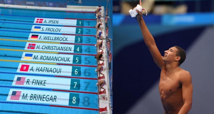البطل الأولمبي أيوب الحفناوي يخفق في التأهل إلى نهائي 800م سباحة حرة