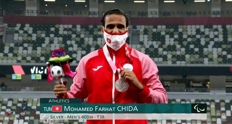 محمد فرحات شيدة بفوز بفضية سباق 400 متر في الألعاب البارالمبية