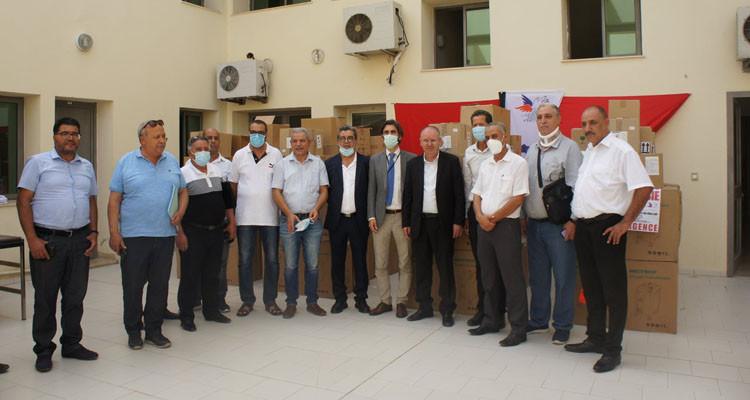 جمعية فرنسية تسلم اتحاد الشغل كمية من المساعدات الطبية