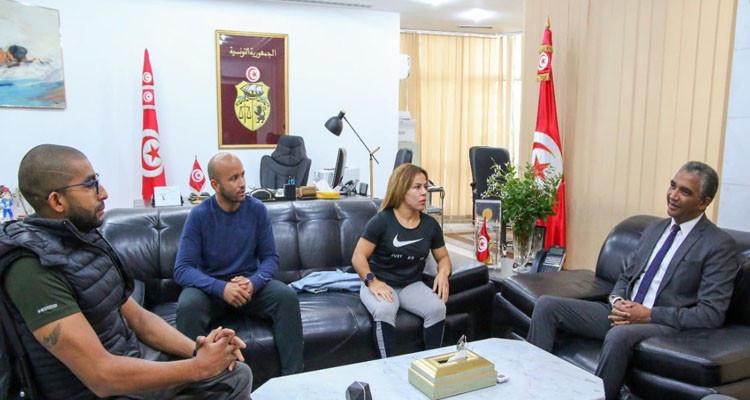 وزير الرياضة يؤكد للبطلين كتيلة وروعة التليلي حرصه على حل كل الاشكاليات